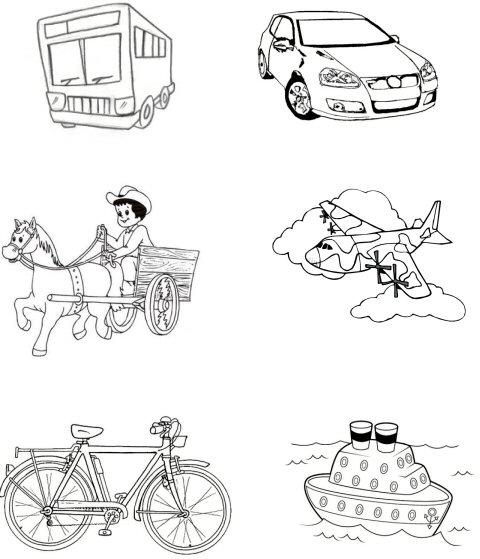 Pedagogia.com.br - Pinte os meios de transporte que você já usou ...
